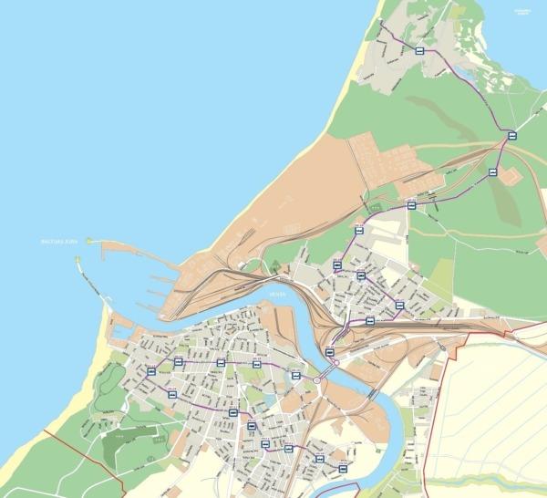 Karte ar maršrutu