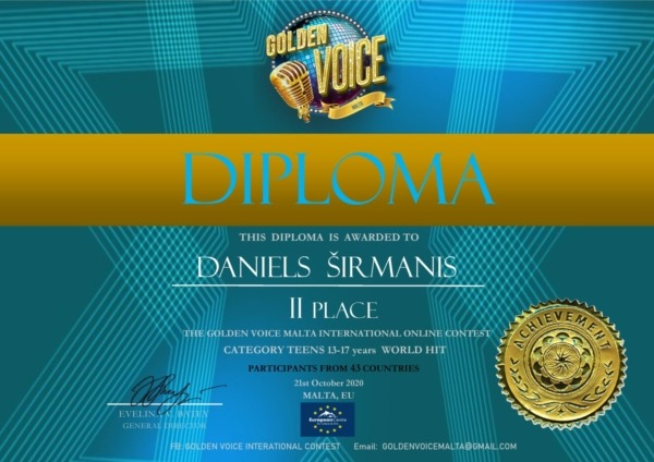 Daniels Širmanis - 2. vieta